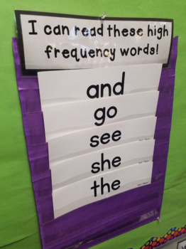 Benchmark Advance 1st Grade High Frequency Word Cards for Focus Walls