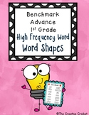 Benchmark Advance 1st Grade High Frequency Word Word Shapes/Boxes