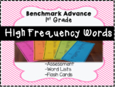 Benchmark Advance 1st Grade High Frequency Words: Flash Cards & Word List