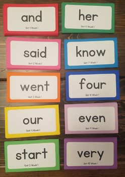 Benchmark Advance 1st Grade High Frequency Words for Word Wall
