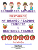 Benchmark Advance 1st Grade My Shared Reading Prompts & Sentence Frames