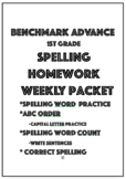 Benchmark Advance 1st Grade Spelling Homework Packet