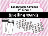 Benchmark Advance 1st Grade Spelling Word Lists and Flash Cards