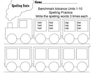 Benchmark Advance 1st Grade Spelling Words