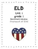 Benchmark Advance 1st Grade Unit 1 ELD Companion