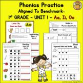 Benchmark Advance© 1st Grade - Unit 1 Phonics Practice