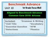 Benchmark Advance 1st Grade Unit 10 Focus Wall Arizona Common Core