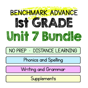 Benchmark Advance-1st Grade Unit 7 BUNDLE Week 1-3-Maps for Thinking &Activities