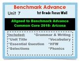 Benchmark Advance 1st Grade Unit 7 Focus Wall Arizona Common Core