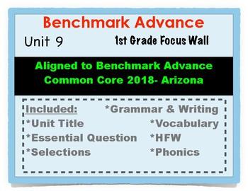 Benchmark Advance 1st Grade Unit 9 Focus Wall Arizona Common Core