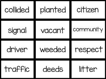Benchmark Advance 1st Grade Vocabulary Words Flash Cards