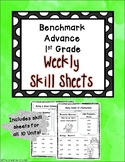Benchmark Advance 1st Grade Weekly Skill Sheets