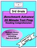 Benchmark Advance 20 Minute Test Prep Reading Comprehension
