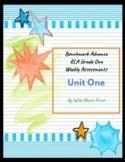 Benchmark Advance RLA Weekly Assessments Grade 1 Unit 1 (3 weeks)