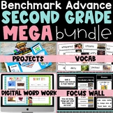 Benchmark Advance 2nd Grade Bundle CA   Focus Wall Google Slides Projects