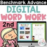 Benchmark Advance 2nd Grade Digital Word Work on Google Slides CA & Natl