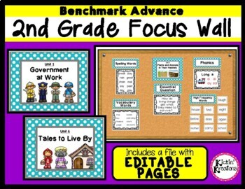 Benchmark Advance 2nd Grade Focus Wall Posters - Units 1-10