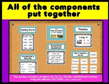 Benchmark Advance 2nd Grade Focus Wall Posters (Ca. and National)