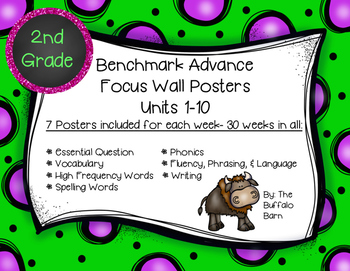 Benchmark Advance 2nd (SECOND) Grade Focus Wall Posters UN