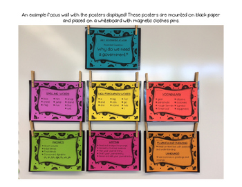 Benchmark Advance 2nd (SECOND) Grade Focus Wall Posters UNITS 1-10 BUNDLE!!