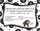 Benchmark Advance 2nd Grade Focus Wall Posters UNITS 5 & 6