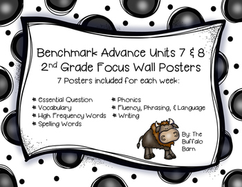 Benchmark Advance 2nd Grade Focus Wall Posters UNITS 7 & 8