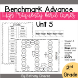 Benchmark Advance 2nd Grade High Frequency Word Games Unit 5