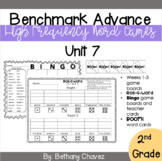 Benchmark Advance 2nd Grade High Frequency Word Games Unit 7