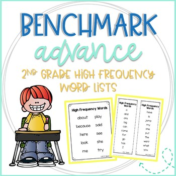 Benchmark Advance 2nd Grade High Frequency Word Lists