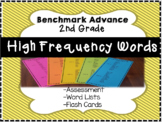 Benchmark Advance 2nd Grade High Frequency Words: Flash Cards & Word List