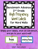 Benchmark Advance 2nd Grade High Frequency Words for Word Wall