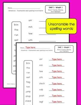 Benchmark Advance 2nd Grade Spelling Activities Units 1-10 (Ca. & National)