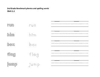 Benchmark Advance 2nd Grade Spelling Practice Unit 1 Week 1