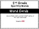 Benchmark Advance 2nd Grade Spelling Word Lists and Flash Cards