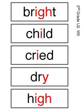 Benchmark Advance 2nd Grade Spelling Words Unit 2