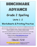 Benchmark Advance 2nd Grade Spelling Worksheets & Printing