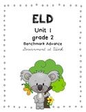 Benchmark Advance 2nd Grade Unit 1 ELD Companion