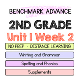 Benchmark Advance - 2nd Grade Unit 1 Week 2 - Map of Thinking Spelling Writing +