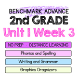 Benchmark Advance - 2nd Grade Unit 1 Week 3 - Map of Thinking Spelling Writing +