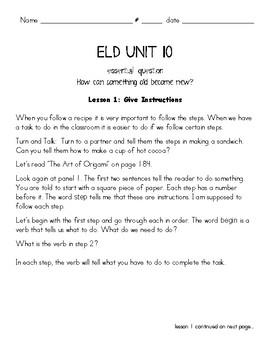 Benchmark Advance 2nd Grade Unit 10 ELD Companion