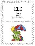 Benchmark Advance 2nd Grade Unit 2 ELD Companion