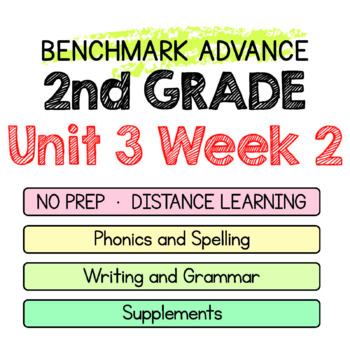 Benchmark Advance - 2nd Grade Unit 3 Week 2 - Maps for Thinking & Activities