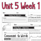 Benchmark Advance - 2nd Grade Unit 5 Week 1 - Thinking Maps & Activities