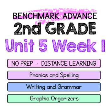 Benchmark Advance - 2nd Grade Unit 5 Week 1 - Maps for Thinking & Activities