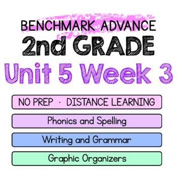 Benchmark Advance - 2nd Grade Unit 5 Week 3 - Thinking Maps & Activities