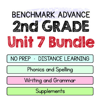 Benchmark Advance-2nd Grade Unit 7 BUNDLE Week 1-3-Maps for Thinking &Activities