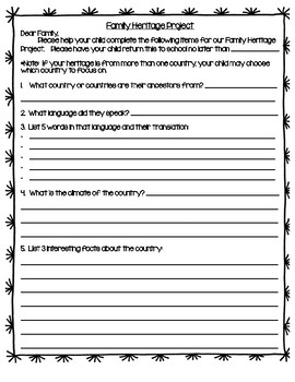 Benchmark Advance 2nd Grade Unit 7 Family Heritage Lapbook Project (Ca.)