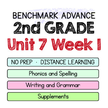 Benchmark Advance - 2nd Grade Unit 7 Week 1 - Maps for Thinking & Activities
