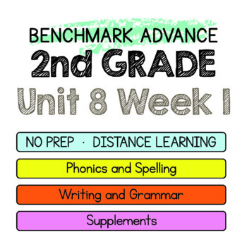 Benchmark Advance - 2nd Grade Unit 8 Week 1- Maps for Thinking & Activities