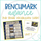 Benchmark Advance 2nd Grade Vocabulary Word, Picture, & Definition Cards Unit 1